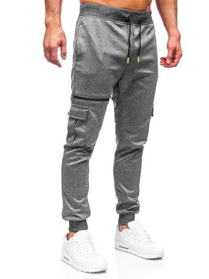 Графитные мужские спортивные брюки карго Bolf K10287