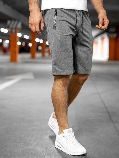 Графитовые мужские спортивные шорты Bolf JX512