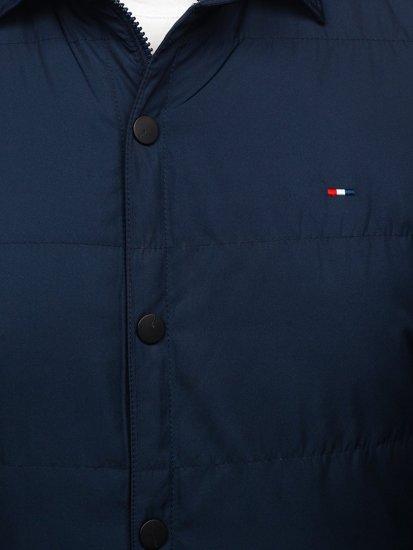 Куртка мужская демисезонная темно-синего цвета Bolf 2068