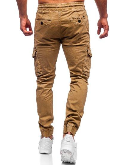 Кэмел мужские брюки джоггеры карго Bolf CT6706S0