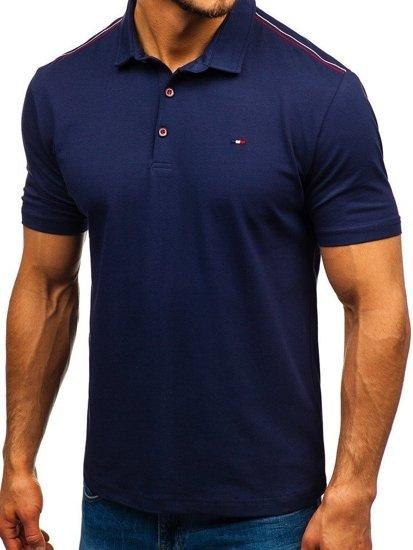 Мужская футболка поло темно-синяя Bolf 6797