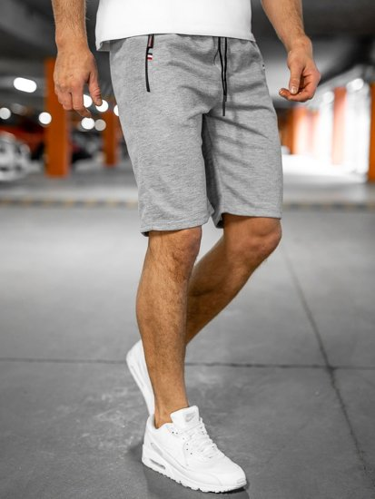 Мужские серые спортивные шорты Bolf JX130