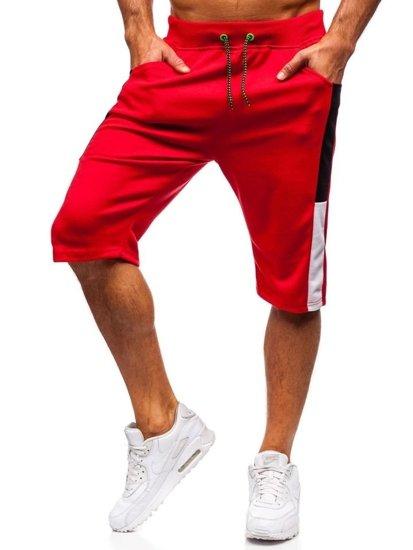 Мужские спортивные шорты красные Bolf 81023