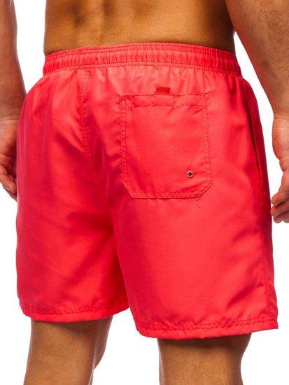 Розовые мужские пляжные шорты Bolf YW07001