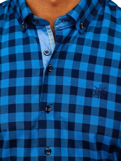 Рубашка мужская BOLF 4508 синяя