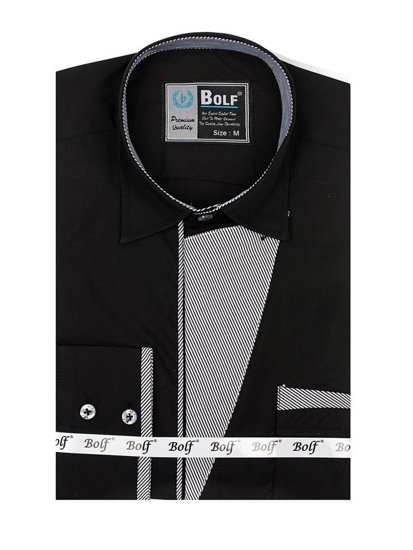 Рубашка мужская BOLF 4713 черная