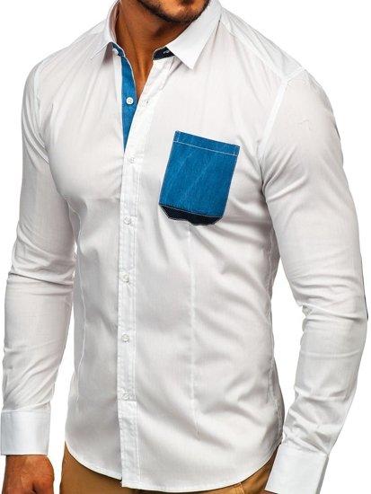 Рубашка мужская N. Men 7192 белая