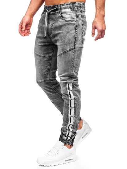 Серые джинсы джоггеры-карго мужские Bolf T372