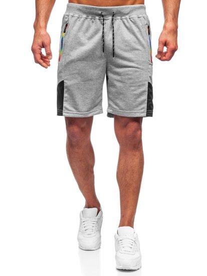 Серые мужские спортивные шорты Bolf KS2559
