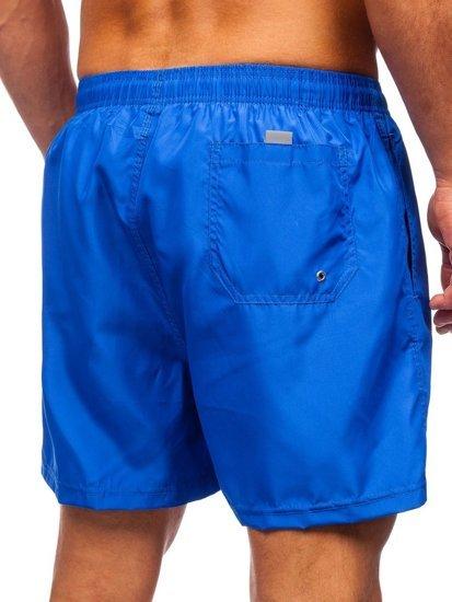Синие мужские пляжные шорты Bolf YW02002