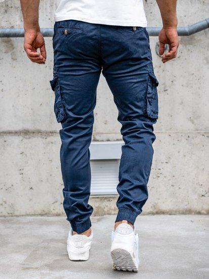 Темно-синие мужские брюки джоггеры карго Bolf CT6702S0