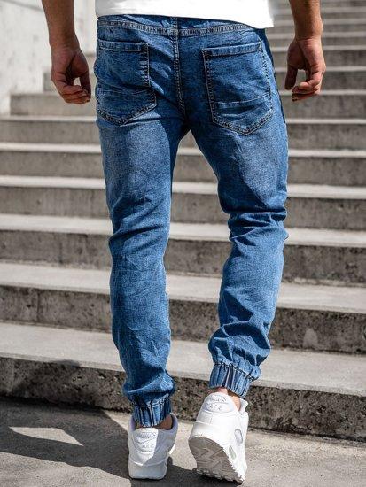 Темно-синие мужские джинсы джоггеры Bolf K10003