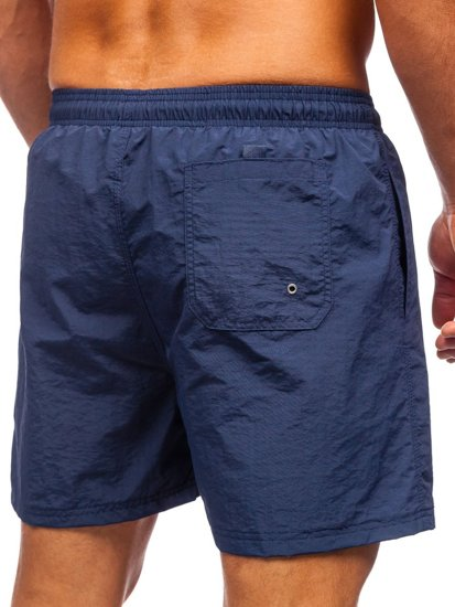 Темно-синие мужские пляжные шорты Bolf YW07003