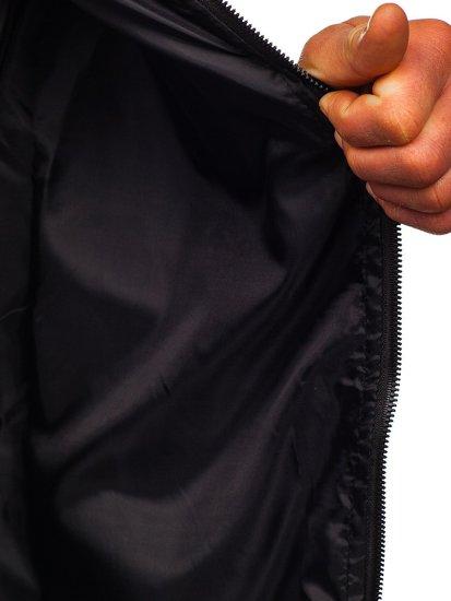 Темно-синяя мужская демисезонная куртка бомбер Bolf M10298