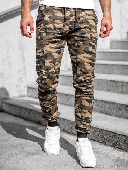 Хаки мужские спортивные брюки камуфляж Bolf 5958