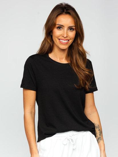 Черная женская футболка без принта Bolf SD211
