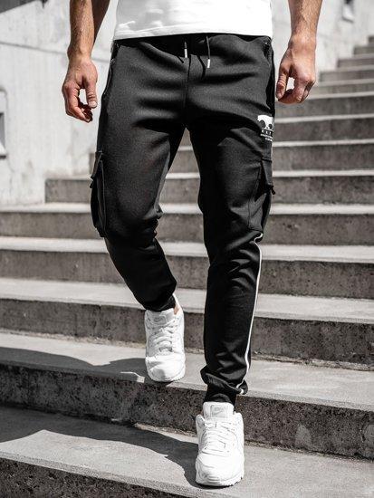 Черные мужские спортивные брюки карго Bolf K10281