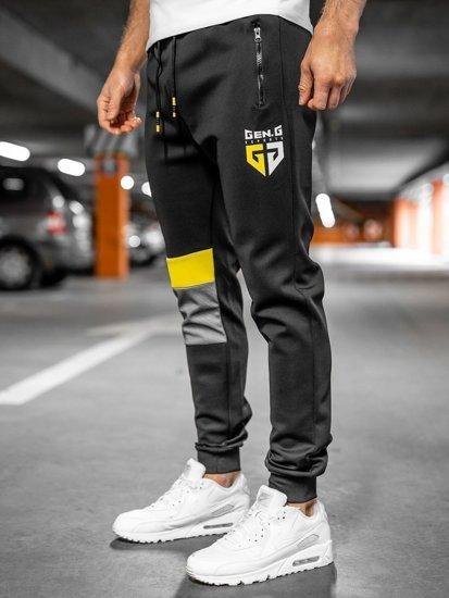 Черные мужские спортивные брюки Bolf K10122