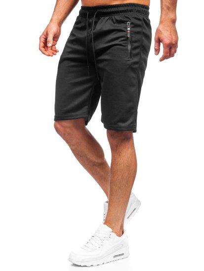 Черные мужские спортивные шорты Bolf JX202