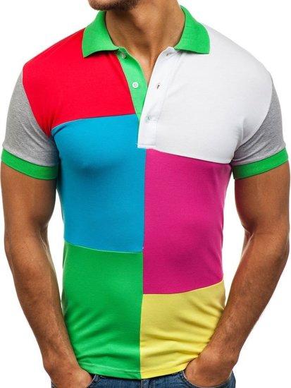 футболка поло мужская LT 4037 зеленая