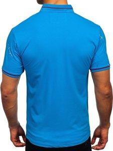 Брюзовая мужская футболка поло с принтом Bolf 192280