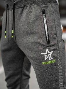 Графитовые мужские спортивные брюки Bolf K10121