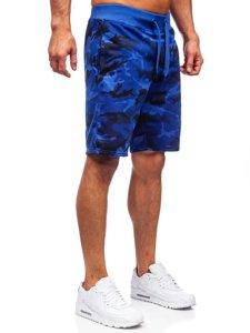 Кобальтовые спортивные шорты камуфляжные шорты Bolf K10036