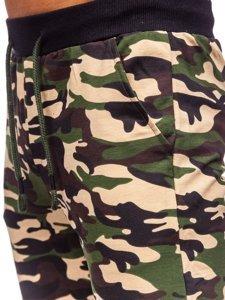 Коричневые мужские спортивные брюки камуфляж Bolf 5958