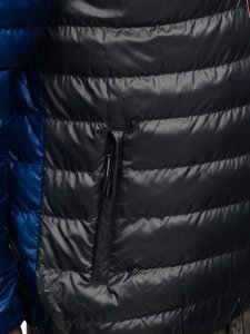 Мужская демисезонная спортивная куртка темно-серая Bolf 1908