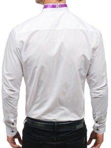 Рубашка мужская с бабочкой BOLF 5786 белая