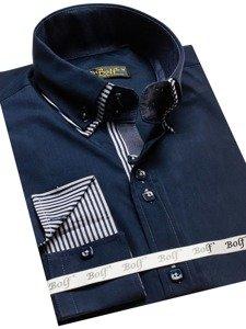 Рубашка мужская BOLF 2774 темно-синяя