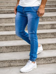 Темно-синие мужские джинсовые джоггеры Bolf KA1721