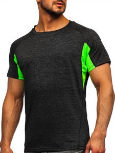 Черная мужская спортивная футболка Bolf HM076