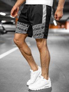 Черные мужские спортивные шорты Bolf KS2563