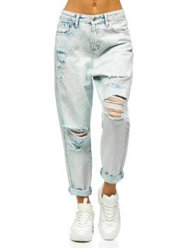 Блакитні жіночі джинси mom fit Bolf WL1691