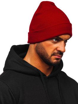 Бордова чоловіча зимова шапка YW09004M