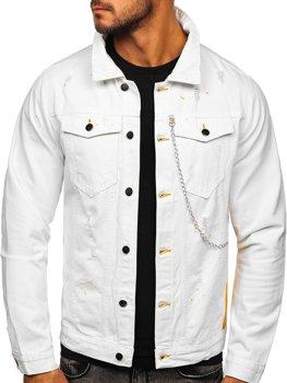 Біла джинсова чоловіча куртка Bolf 3-4