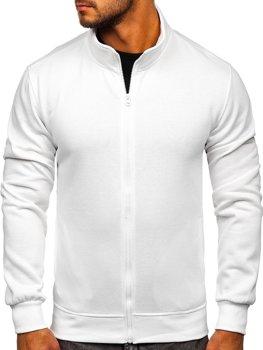 Біла чоловіча толстовка без капюшона Bolf B2002