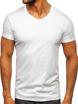 Біла чоловіча футболка без принта з v-подібним вирізом Bolf 2007 bc92e7cfcf876