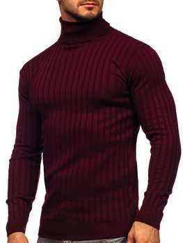 Білий светр гольф чоловіча водолазка Bolf 520