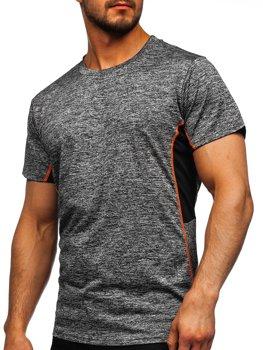 Графітова чоловіча тренувальна футболка Bolf HM073