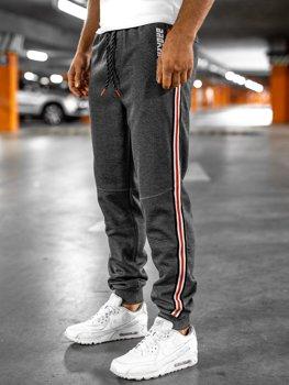 Графітово-помаранчеві чоловічі спортивні штани Bolf Q3886