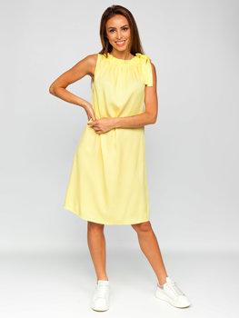 Жовта жіноча сукня Bolf 9785
