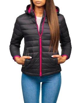 Жіноча демісезонна куртка графітова Bolf AB054
