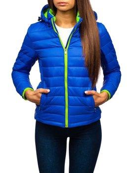 Жіноча демісезонна куртка синя Bolf AB054