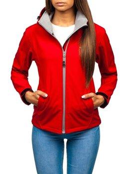 Жіноча демісезонна куртка софтшелл червона Bolf AB056