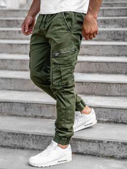 Зелені чоловічі штани джоггери-карго Bolf CT6701
