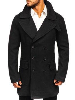 Зимове чоловіче пальто чорне Bolf 1048