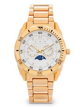 Золотий чоловічий наручний годинник зі сталі Bolf 5687-1