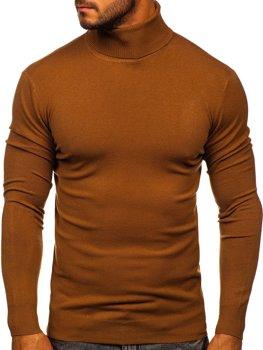 Коричневий чоловічий светр гольф Bolf YY02